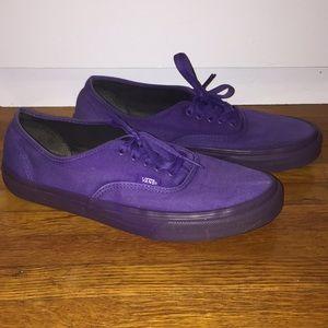 Purple low Vans mens size 10!